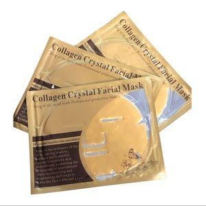 Set of 3 Collagen Crystal Facial Masks